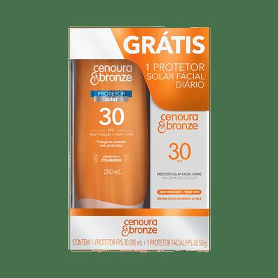 Kit-Protetor-Cenoura---Bronze-200ml-FPS-30-Gratis-Protetor-Facial-50g-FPS-30-7896094912557