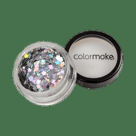 Glitter-ColorMake-Shine-Formatos-Flor-Prata-2g-7898595463453