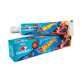Gel-Dental-Condor-Infantil-Hotwheels-Morango-50g--3511--7891055538111