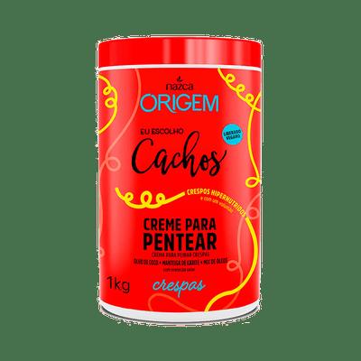 Creme-para-Pentear-Origem-Eu-Escolho-Cachos-2em1-Crespas-1000g-7896085872464