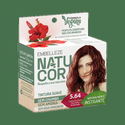 Coloracao-Natucor-5.64-Hibisco-Castanho-Claro-Vermelho-Acobreado-15g-7896013554363