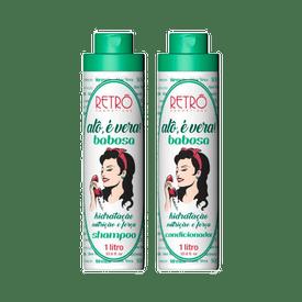 Kit-Retro-Cosmeticos-Shampoo---Condicionador-Alo-e-Vera-Babosa-1000ml