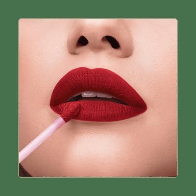 Batom-Liquido-Niina-Secrets-Skinny-Matte-Vermelho-Hibisco-Boca