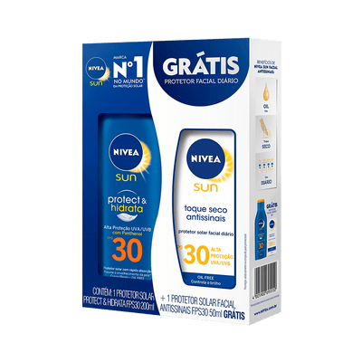 Kit-Protetor-Solar-Nivea-Sun-Fps30-200ml---Protetor-Facial-Fps30-4005900695550