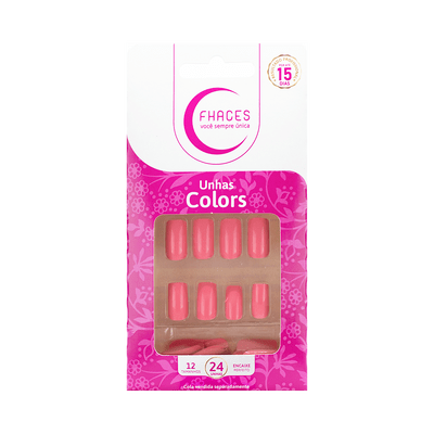 Unhas-Fhaces-Colors-Salmao-24-unidades--U3084--7898577233586