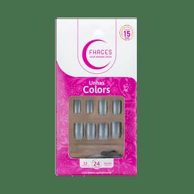 Unhas-Fhaces-Colors-Prata-24-unidades--U3100--7898577233715