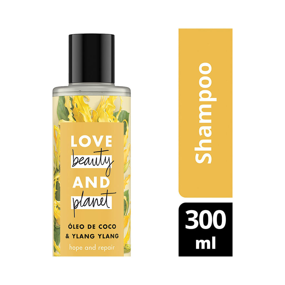 Shampoo Love Beauty And Planet Hope And & Repair 300 ML Shampoo Óleo de Coco & Ylang Ylang Love Beauty And Planet 300ml